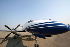 Domestic. Close up on a turboprop aircraft Royalty Free Stock Images