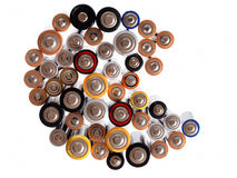 Domestic alkaline batteries - AA and AAA Stock Image