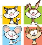 Domestic Animal Cartoon Set Royalty Free Stock Photography