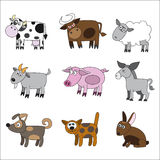 Domestic animal set Royalty Free Stock Images