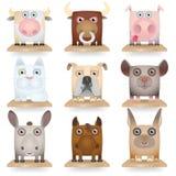 Domestic Animals Icon Set Stock Photos