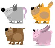 Domestic animals set Stock Photography