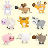 Domestic animals set Stock Image