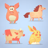 Domestic animals set Stock Images