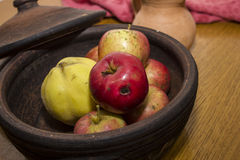 Domestic apples and other fruits ekological Royalty Free Stock Photos