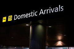 Domestic arrivals airport, transport Stock Image