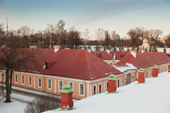 Domestic buildings in the fortress Stock Photography