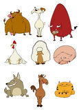 Domestic cartoon animals Royalty Free Stock Image
