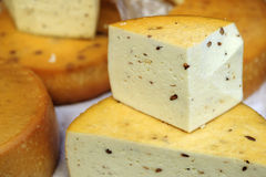 Domestic cheese Royalty Free Stock Photography