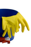 Domestic cleaning objects Stock Photos