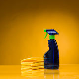 Domestic cleaning utensils Stock Photo