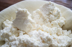 Domestic cottage cheese Royalty Free Stock Photography
