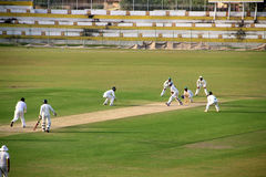 Domestic Cricket Match Stock Photo