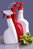 Domestic detergent. On blue Stock Photography