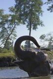 Domestic elephant bathing in Nepal Royalty Free Stock Photography