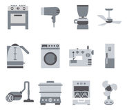 Domestic Equipment black and white icons Royalty Free Stock Images