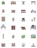 Domestic furniture icon set Stock Photo