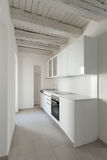 Domestic kitchen in old loft Stock Photo