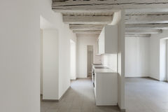 Domestic kitchen in old loft Stock Image