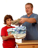 Domestic Laundry Team Royalty Free Stock Photos