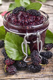 Domestic mulberry jam Royalty Free Stock Photos