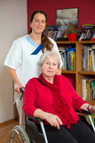 Domestic nursing Stock Photo
