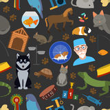 Domestic pets background. Pattern. Seamless Stock Photos