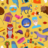 Domestic pets background. Pattern. Seamless Stock Images