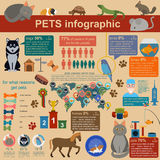 Domestic pets infographic elements, helthcare, vet. Vector illustration stock illustration