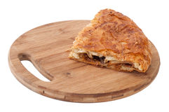 Domestic pie with meat and cheese Stock Image