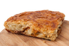 Domestic pie with meat and cheese Royalty Free Stock Photos