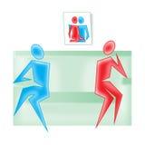 Domestic quarrel. Conception Stock Image