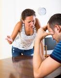 Domestic quarrel between spouses Stock Images