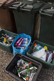 Domestic Recycling - Household Waste Stock Photo