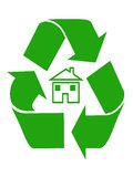 Domestic Recycling Symbol Royalty Free Stock Photos