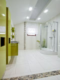 Domestic room. Wide view of a new domestic room Royalty Free Stock Photography