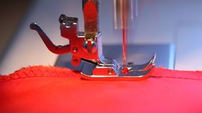 Domestic sewing machine stock video