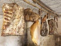 Domestic smoked meat delicatessen Stock Photos