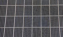 Domestic solar panels royalty free stock image