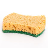 Domestic sponge isolated over white background Stock Images