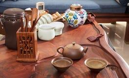 Domestic tea set Royalty Free Stock Photo