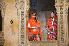 Domestic tourists, Jaisalmer, India Royalty Free Stock Image
