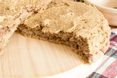 Domestic unleavened barley bread Stock Photo