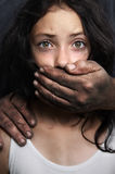 Domestic violence. Conceptual image of child abuse