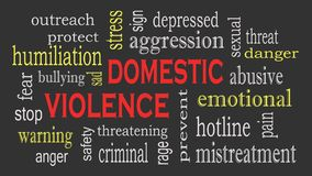 Domestic Violence and Abuse concept word cloud background royalty free stock images