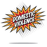 Domestic violence burst Royalty Free Stock Image