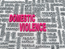 Domestic violence. 3d Concept diagram wordcloud illustration of domestic violence Royalty Free Stock Image