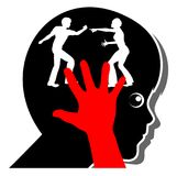 Child suffers when parents fight. Domestic violence in the family is a traumatic experience for kids Stock Images