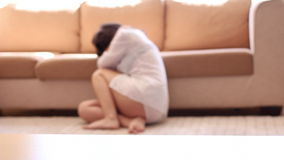 Domestic violence stock video footage