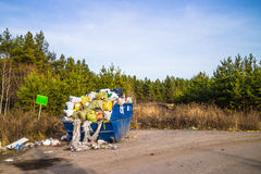 Domestic waste. Untimely removal of household waste Stock Photography